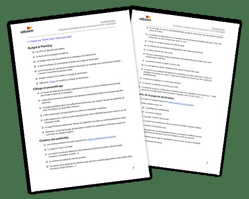 Checklist prélancement campagne Facebook Ads