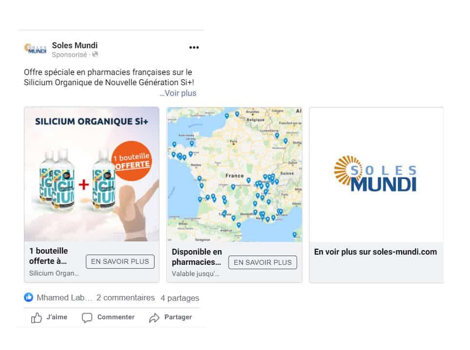 Publicité Facebook drive-to-store