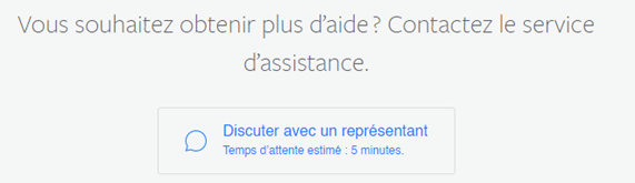 Accès au Live Chat Support Facebook pour tenter de récupérer votre compte publicitaire désactivé