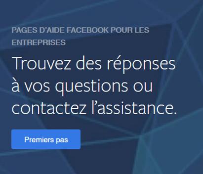 Pages d'aide Facebook pour les entreprises afin de contacter l'assistance pour votre compte publicitaire désactivé