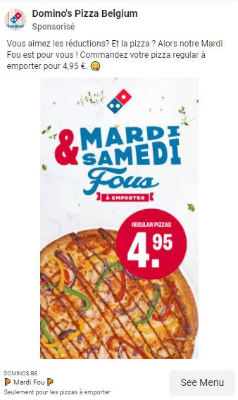 Réduction Domino's Pizza