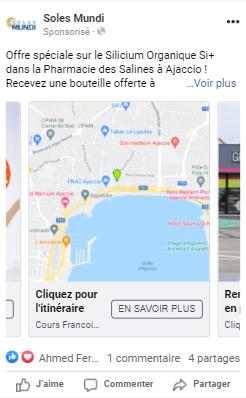 Publicité Drive-to-Store Facebook